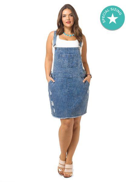 a80e2beb4788 Denim Overall Dress by  citychiconline