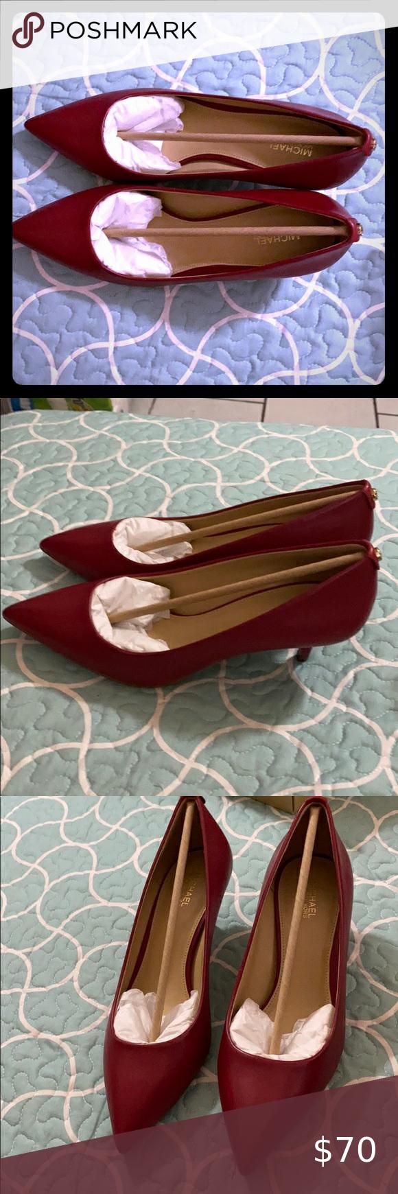 Mk Flex Kitten Pump Leather In 2020 Michael Kors Shoes Heels Shoes Women Heels Michael Kors Pumps