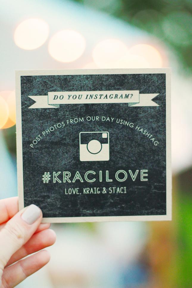 17 Stylish Ways to Share Your Wedding Hashtag Wedding