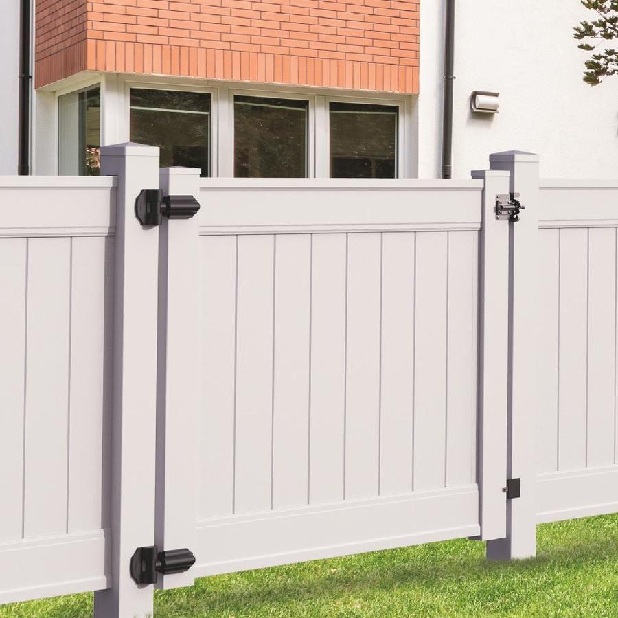Freedom Emblem 6 Ft H X 5 Ft W White Vinyl Fence Gate Lowes Com White Vinyl Fence Vinyl Fence Fence Gate