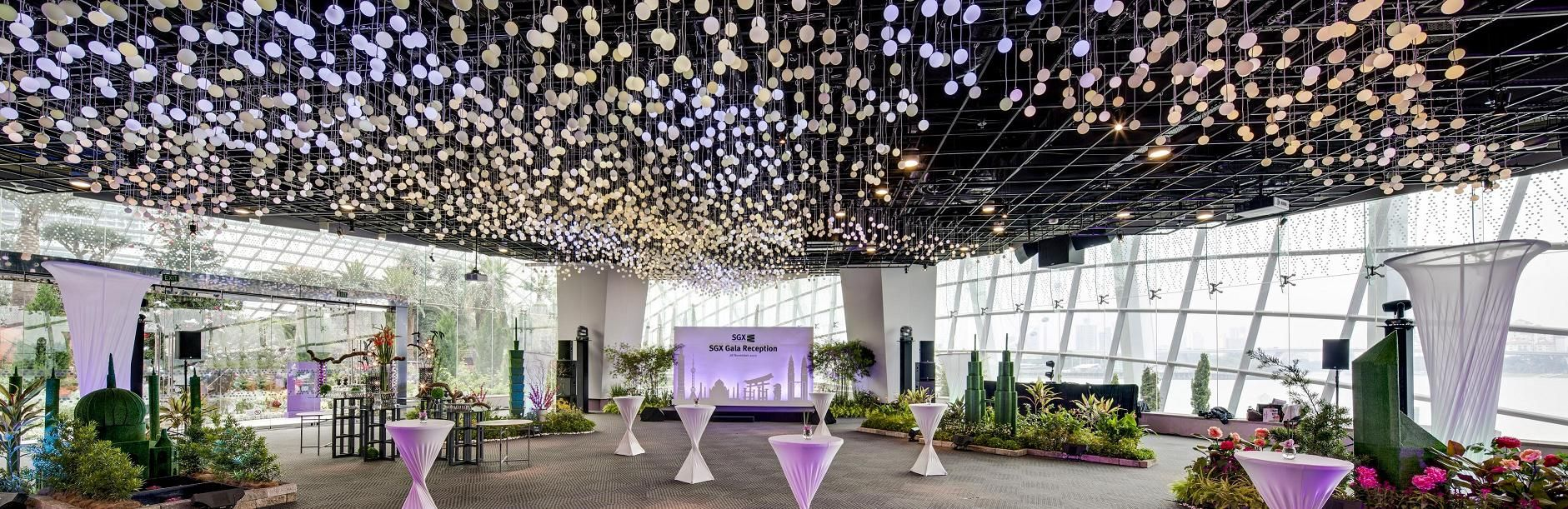 flower field hall at gardens by the bay is it a spacious enough venue for your wedding ceremony