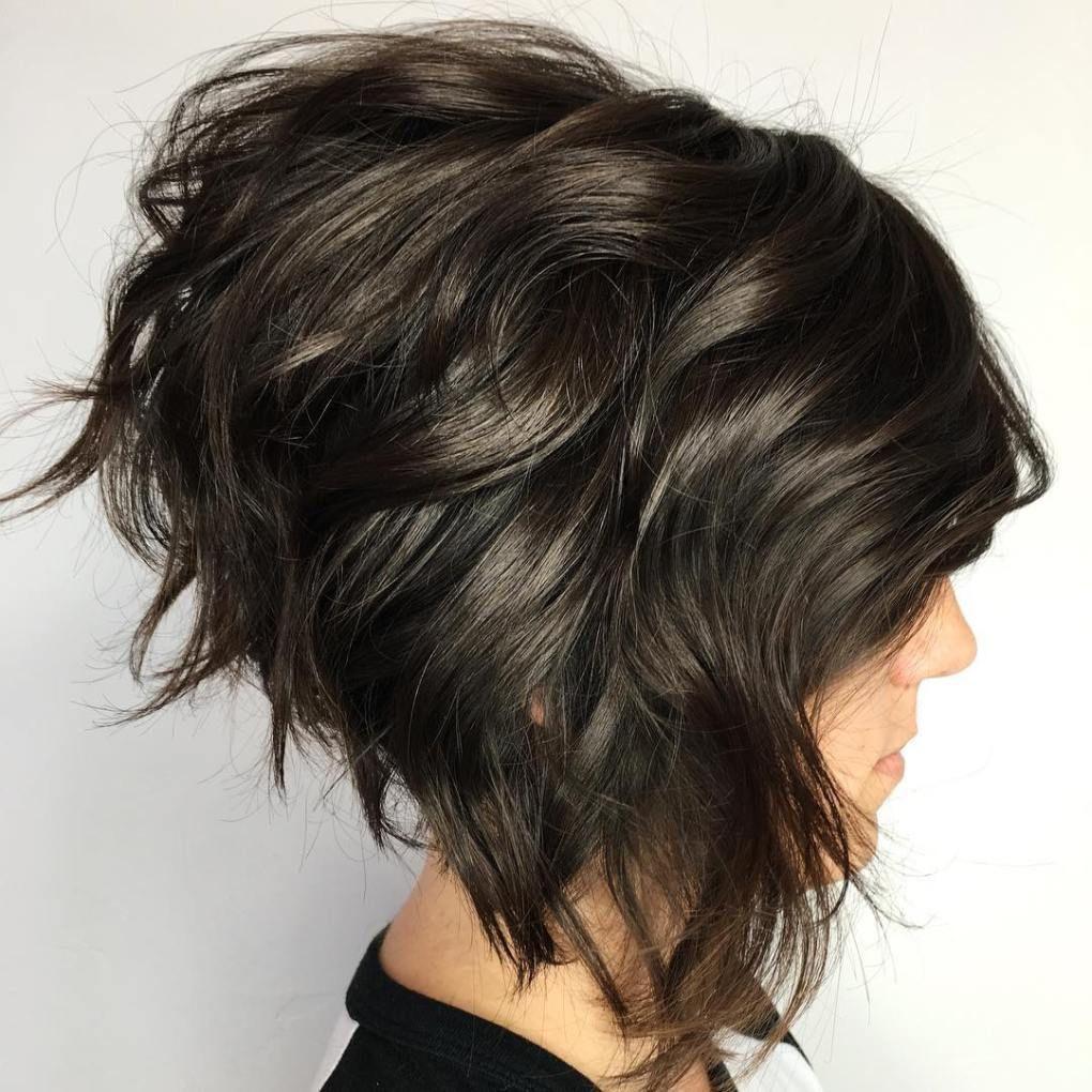 Stacked wavy bob hair pinterest wavy bobs everyday hairstyles