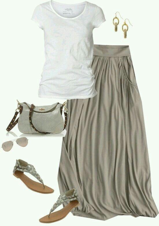 #Casual#moda#falda