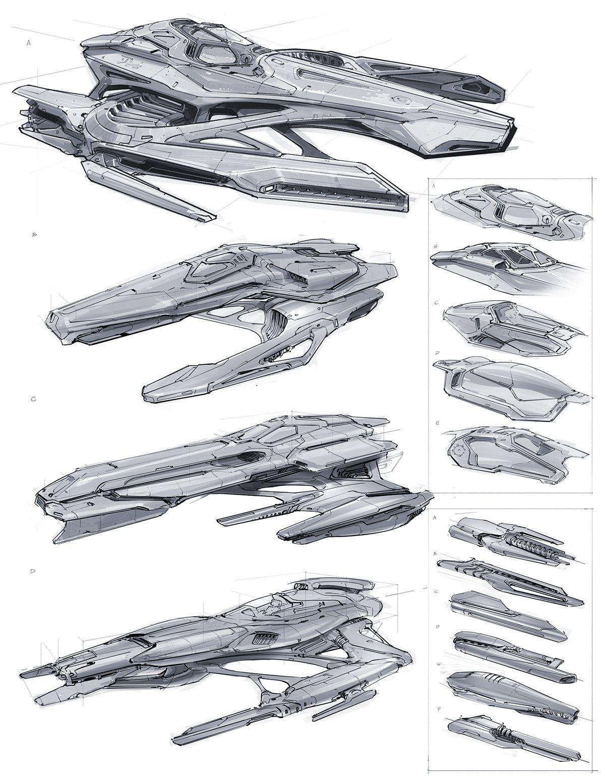 ArtStation - Ship Sketches, Jeremy Love