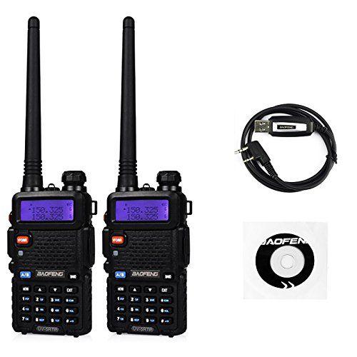 BaoFeng UV-5R 8 Watt High Power Dual Band Two Way Radio Tri-Power 8//4//1W 136-174//400-520MHz VHF UHF Portable Ham Radio