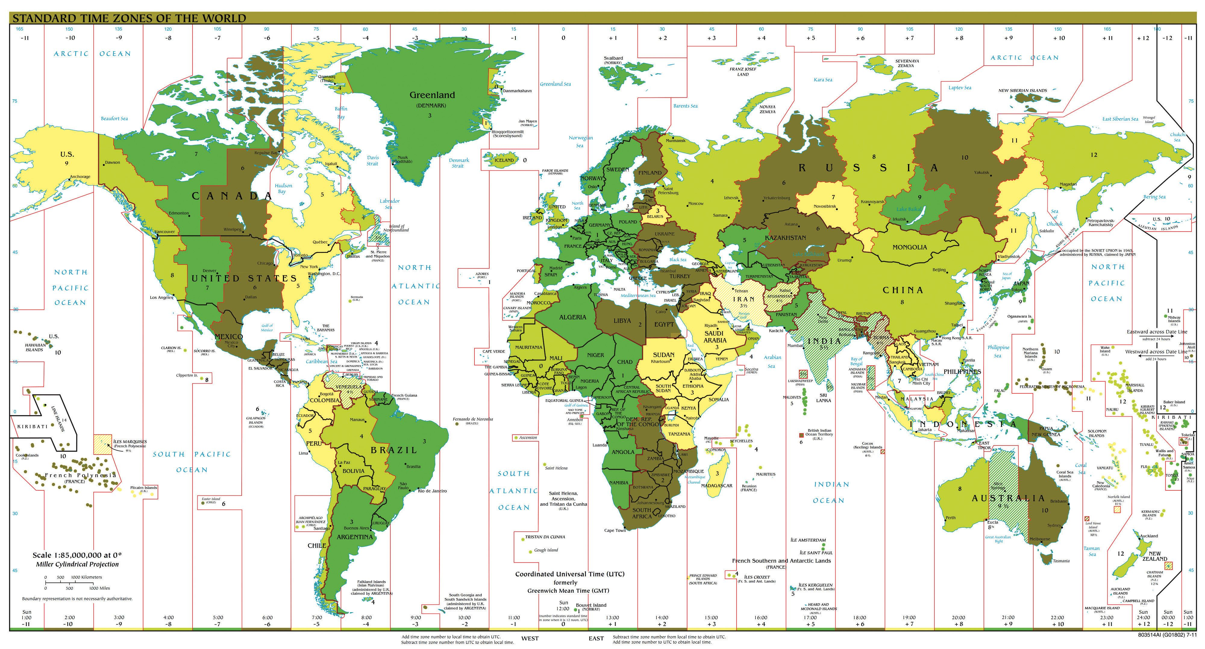 Earth With Map Of Parallels