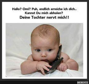 Hallo? Omi? Puh, endlich erreiche ich dich..   Lustige Bilder, Sprüche, Witze, ... - #Bilder #Endlich #erreiche #Hallo #lustige #Sprüche #Witze