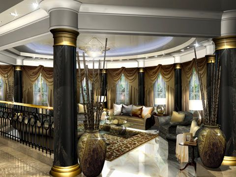 ديكورات فخمة مجالس ملكية Luxury Decor Sitting Room Interior Design Luxury Interior Design