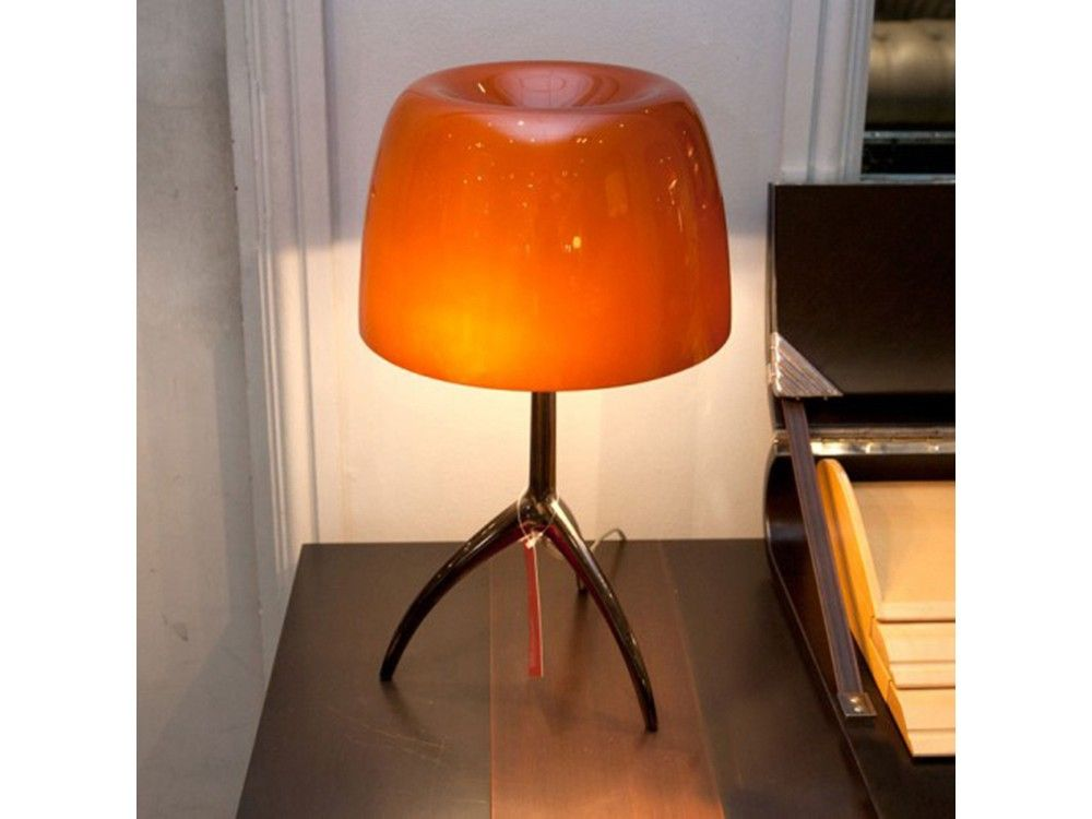Latest Buy the Foscarini Lumiere 05 Table Lamp Amber Glass from our designer Ex Display collection at Chaplins Showcasing the very best in modern design For Your Plan - Review designer table lamps Trending
