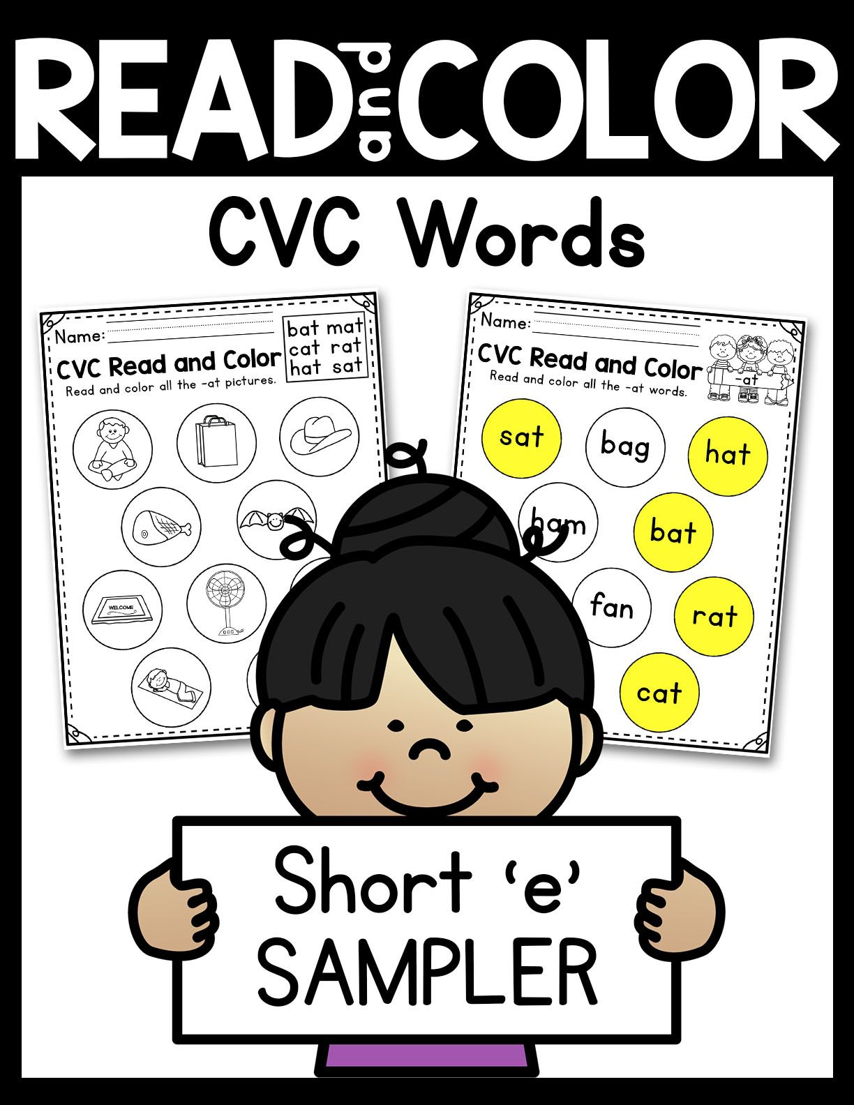 Read And Color Cvc Words Sampler