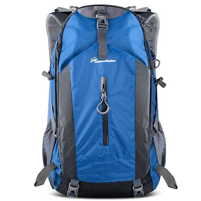 b7cb307881c8 OutdoorMaster Hiking Backpack 50L - Weekend Pack w Waterproof Rain Cover    Laptop Compartment -