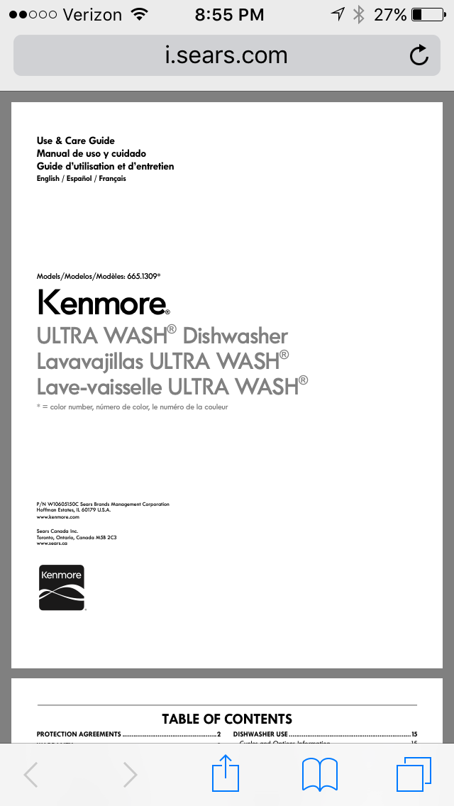 kenmore dishwasher manuals kenmore dishwashers manual dishwasher rh pinterest com