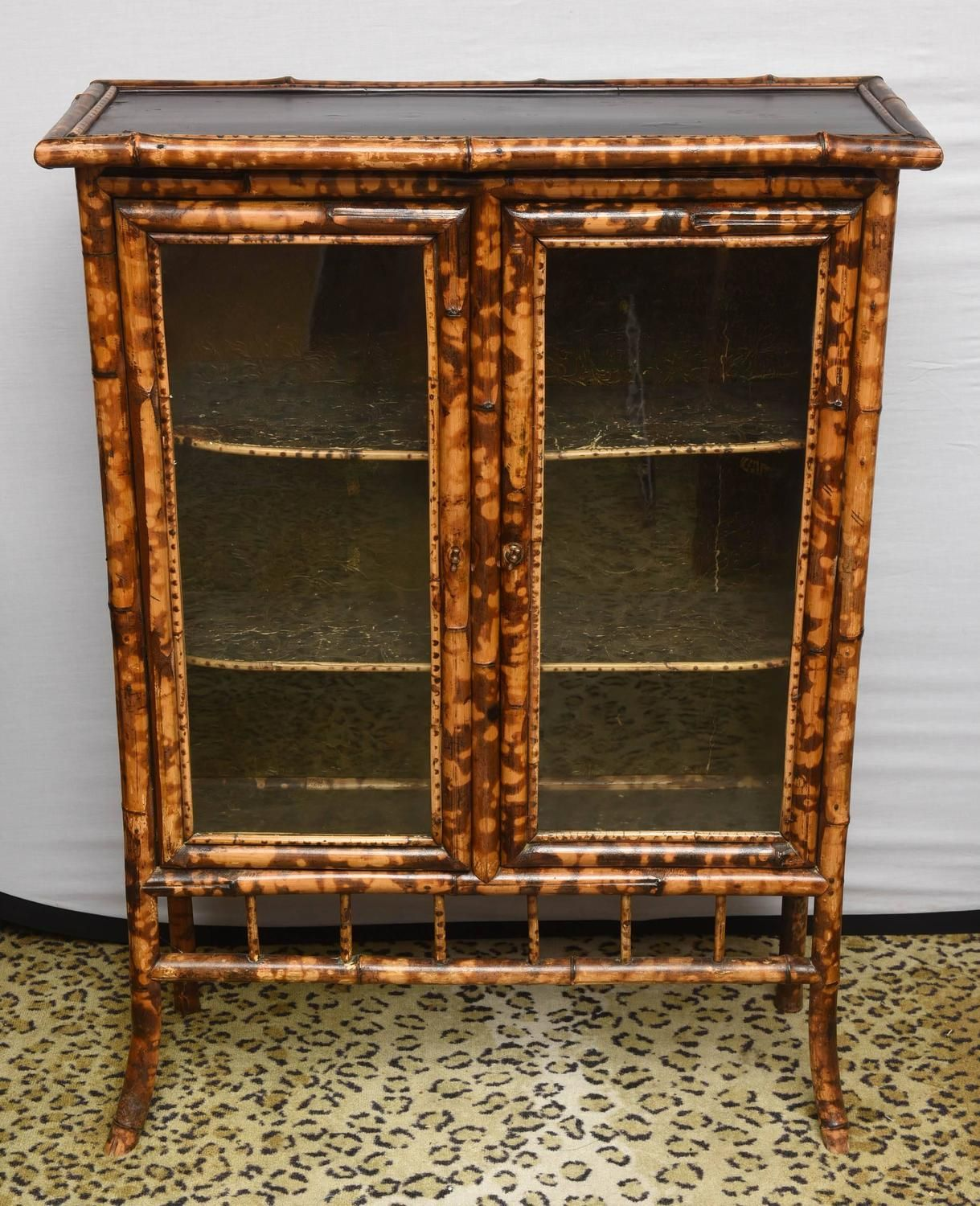 Best 19Th Century English Bamboo Cabinet Or Bookcase From A 640 x 480