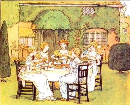 """The Tea Party"", Kate Greenaway"