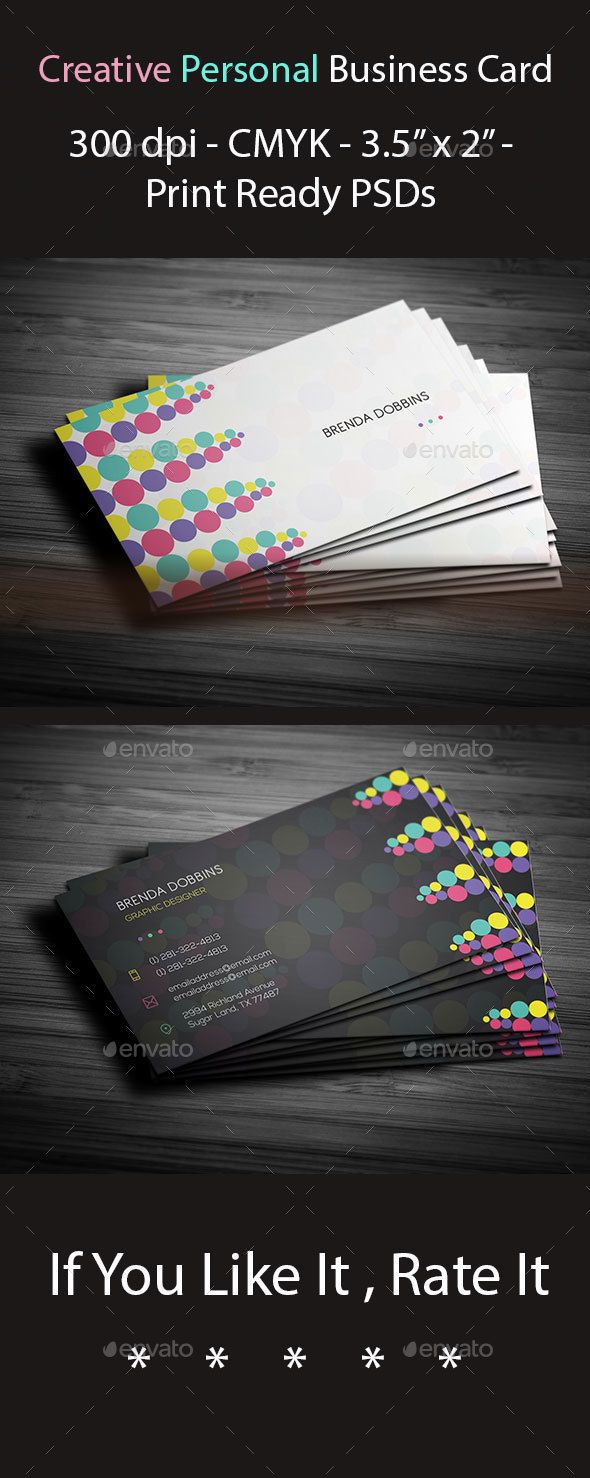 Creative Personal Business Card | Business cards, Business and Creative