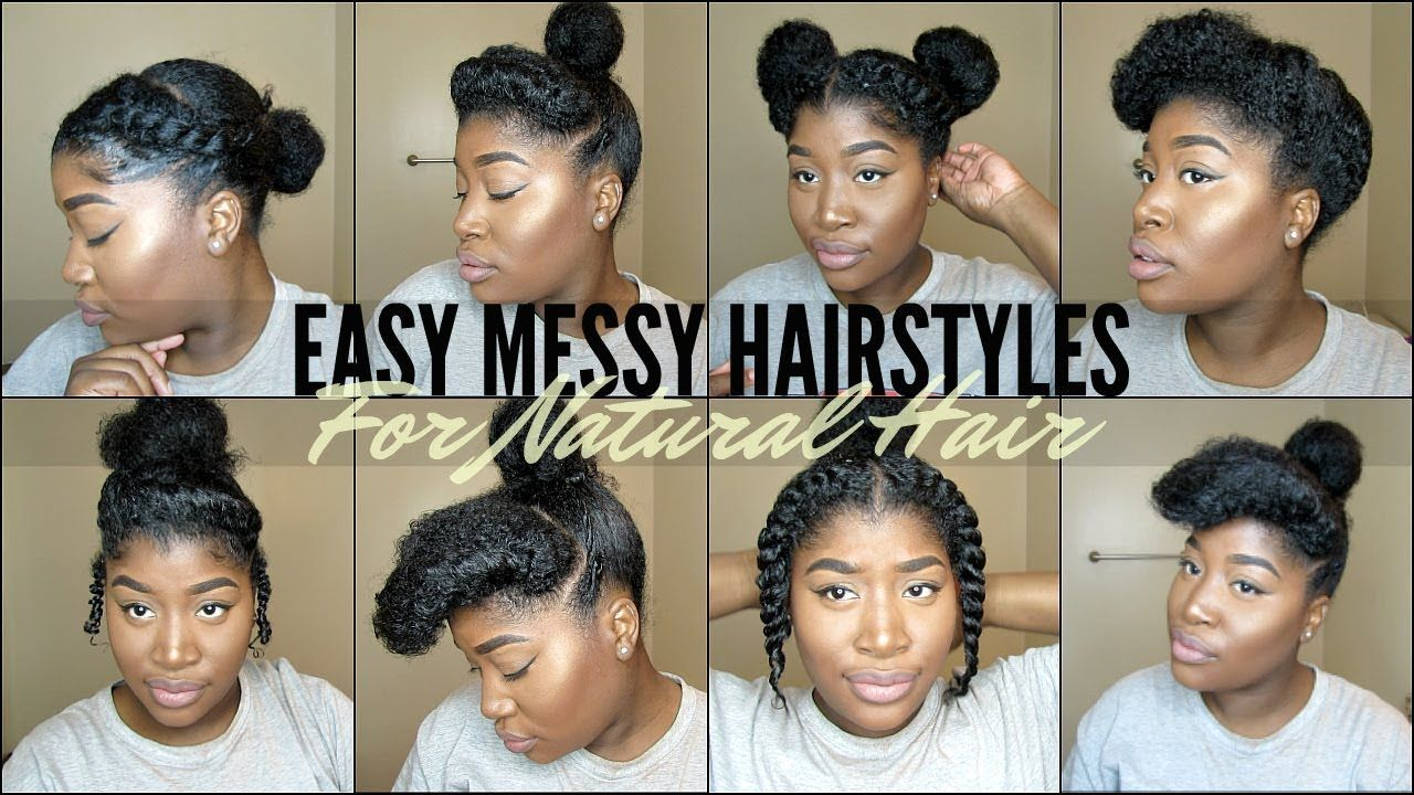 8 Quick Easy Natural Hairstyles For 4 Type Natural Hair Youtube Natural Hair Styles Natural Hair Styles Easy Cute Natural Hairstyles