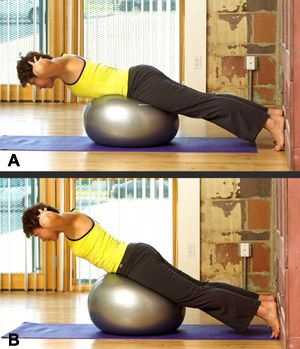 6 simple ball exercises  before you begin the workout