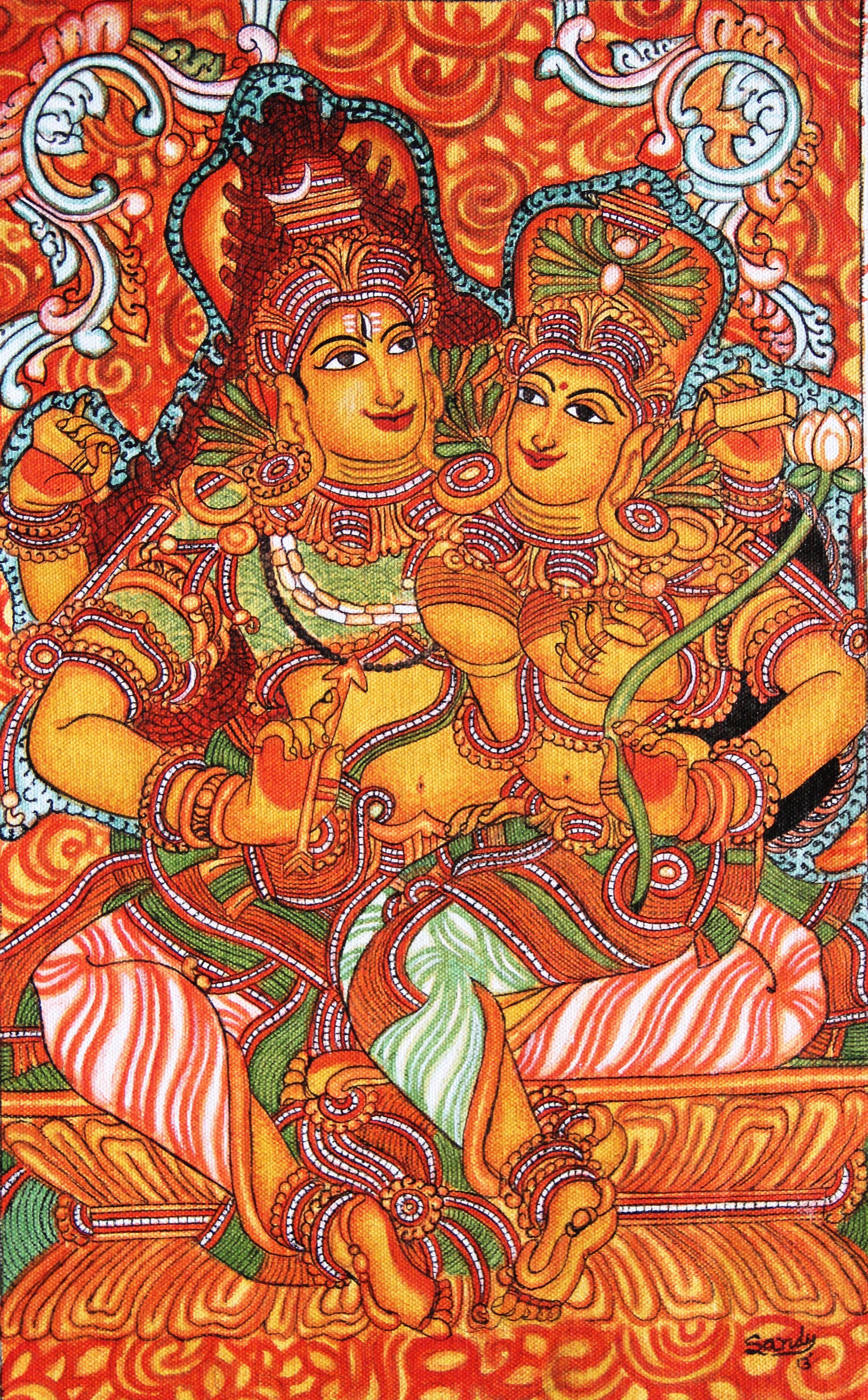 Pin it like image for Buy kerala mural paintings online