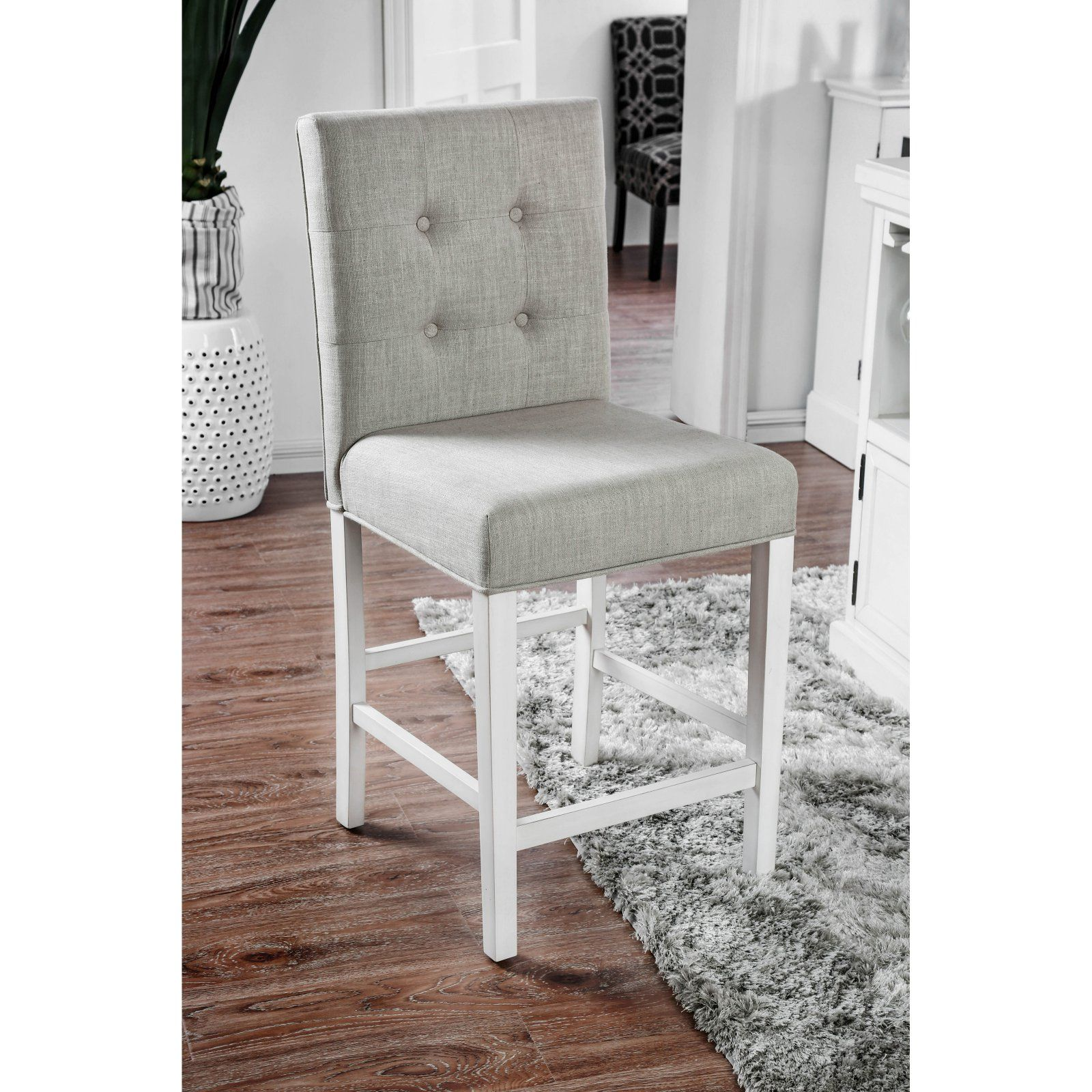 furniture of america alana button tufted counter height chairs set rh pinterest com