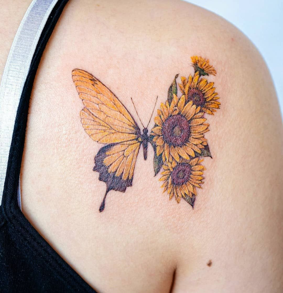 20++ Awesome Yellow butterfly tattoo meaning image ideas