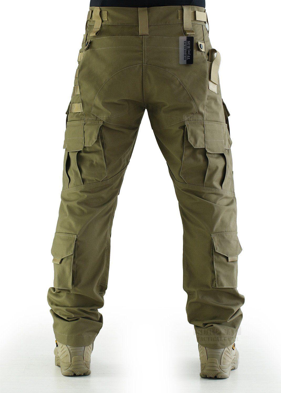 d911d67efaf Amazon.com   ZAPT Breathable Ripstop Fabric Pants Military Combat Multi- pocket Molle Tactical Pants with EVA Knee Pads (Khaki