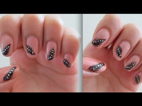 Feather nail designs are super cute simple elegant heres feather nail designs are super cute simple elegant heres how i prinsesfo Image collections