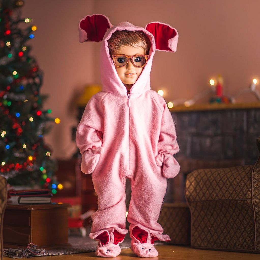 Christmas Story Bunny Pajamas.Instagram Photo Happy Dollidays American Girl Christmas