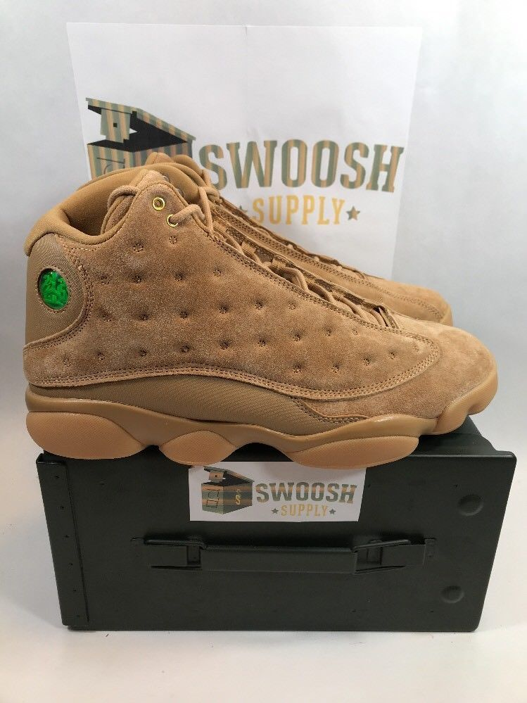 353418533bea Nike Air Jordan 13 Retro Wheat Elemental Gold Brown Flax 414571-705 Size  11.5  Nike  Shoes