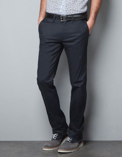 34b033ab SLIM STRETCH TROUSERS - Trousers - Man - New collection - ZARA United States