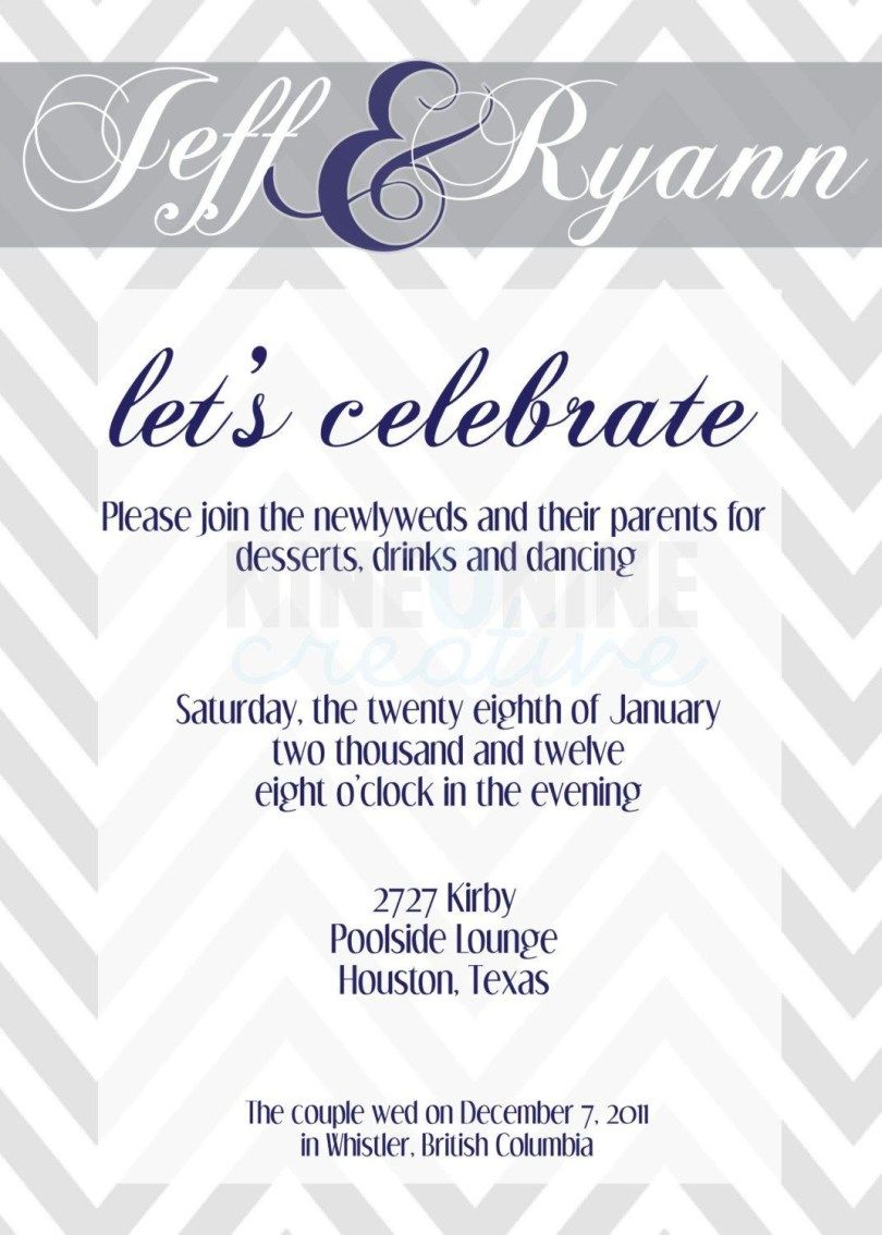 Wedding Party Invites Reception Only Invitations Wedding Reception Invitations