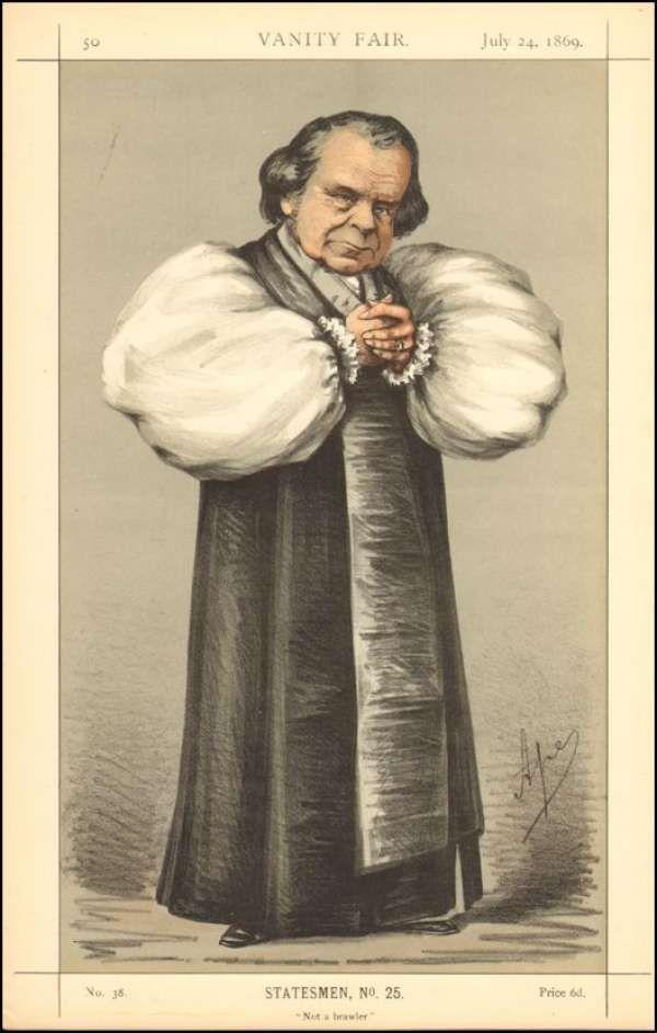 Vanity Fair Print : Vanity Fair Print : Wilberforce / The Bishop Of Oxford 1869