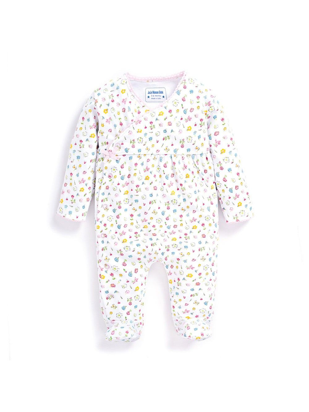 fe3717c7d Pretty Floral Baby Sleepsuit