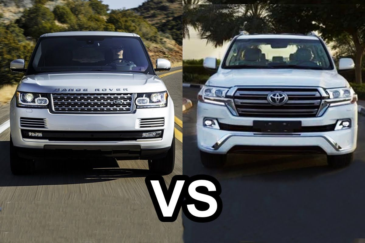 2016 range rover vs 2016 toyota land cruiser 200 design
