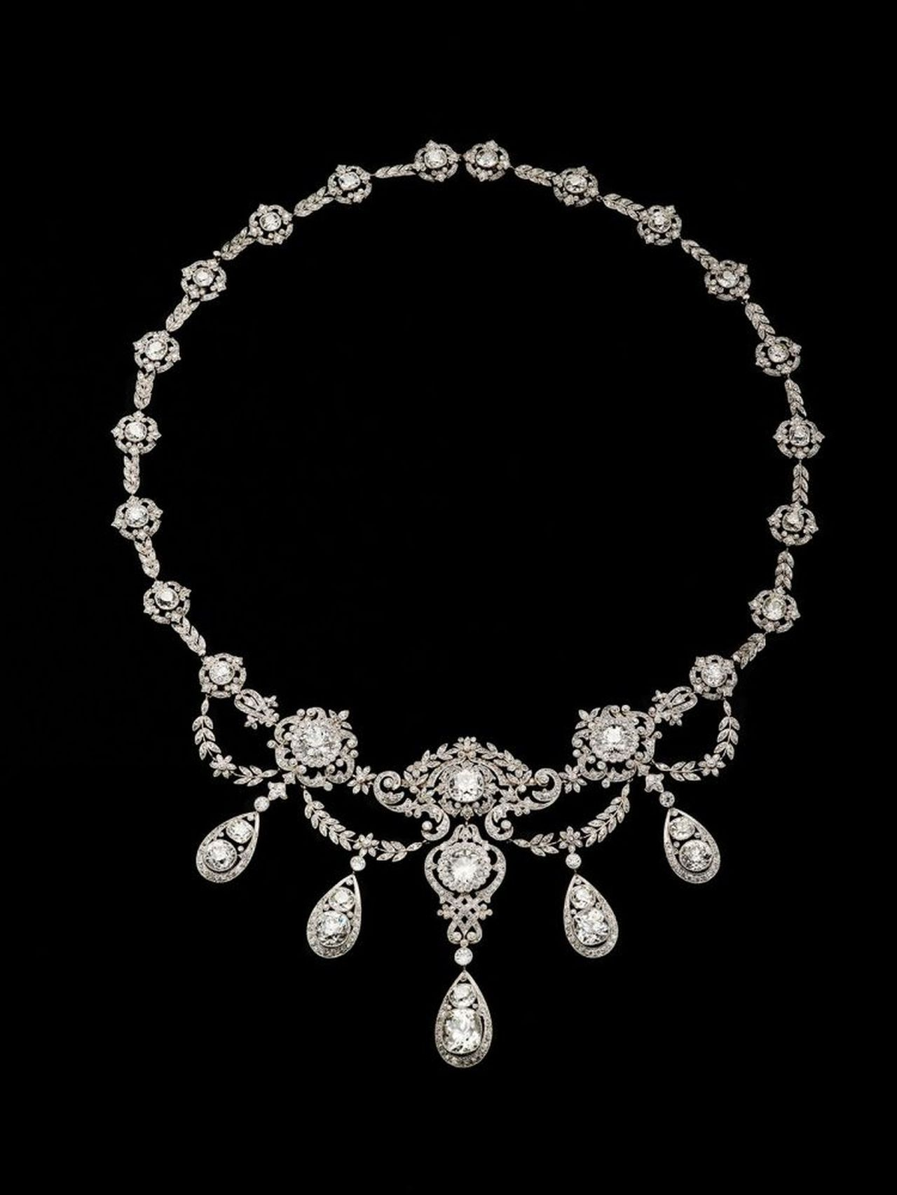Tiffany ,Diamond necklace .