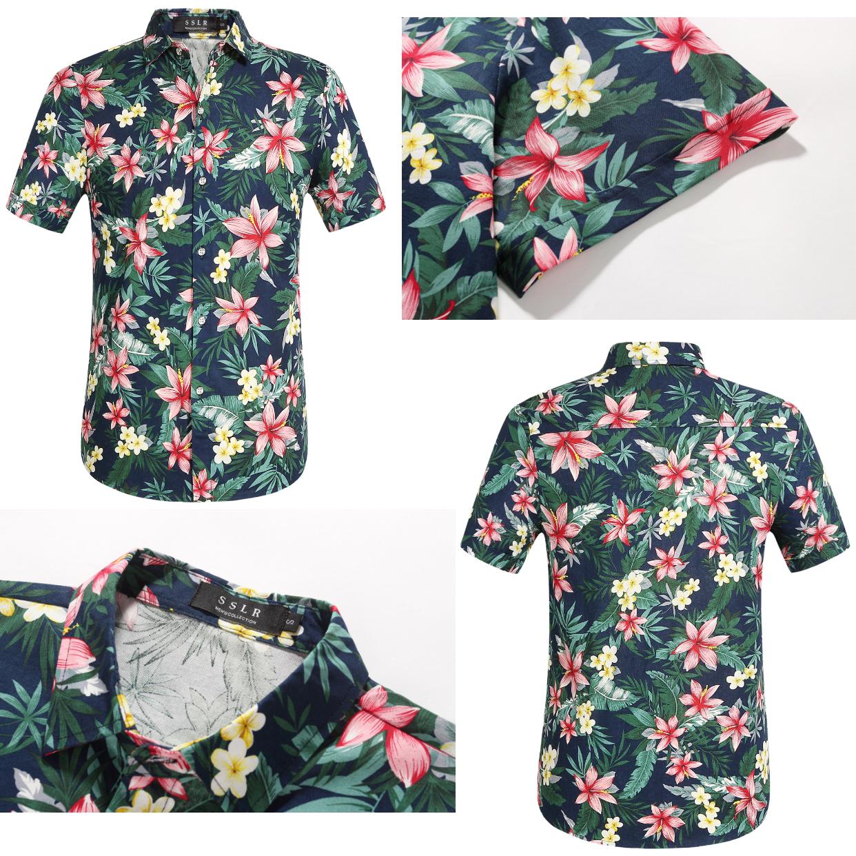 Tropical Floral Hawaiian Shirt Beach Party Hawaiian Shirt Tropical Party Aloha Party Personalized T Shirts Hawaiian Shirt Shirts