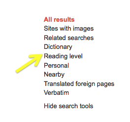 Technology Up to Speed: Searching Google By Reading Level