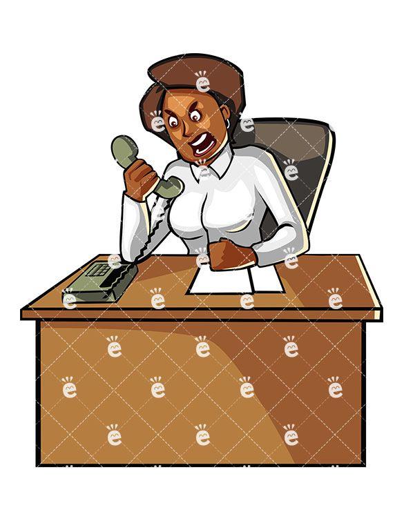 black business woman yelling at someone on the phone black rh pinterest com