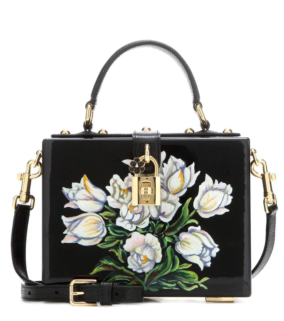 03d917d60566 DOLCE   GABBANA Dolce Box Painted Wooden Shoulder Bag.  dolcegabbana  bags   shoulder bags  hand bags  leather  lining