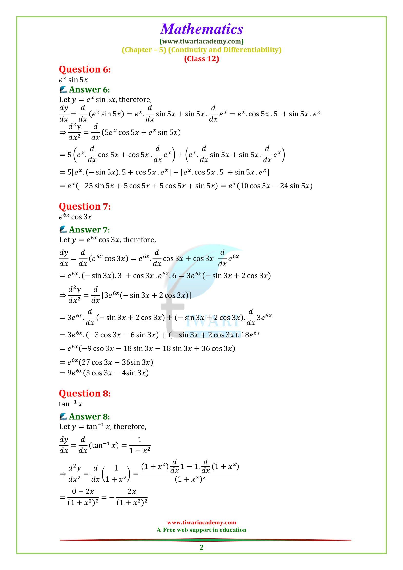 Ncert Solutions For Class 12 Maths Chapter 5 Exercise 5 7 For 2020 21 Class 12 Maths Math Math Exercises [ 2339 x 1653 Pixel ]