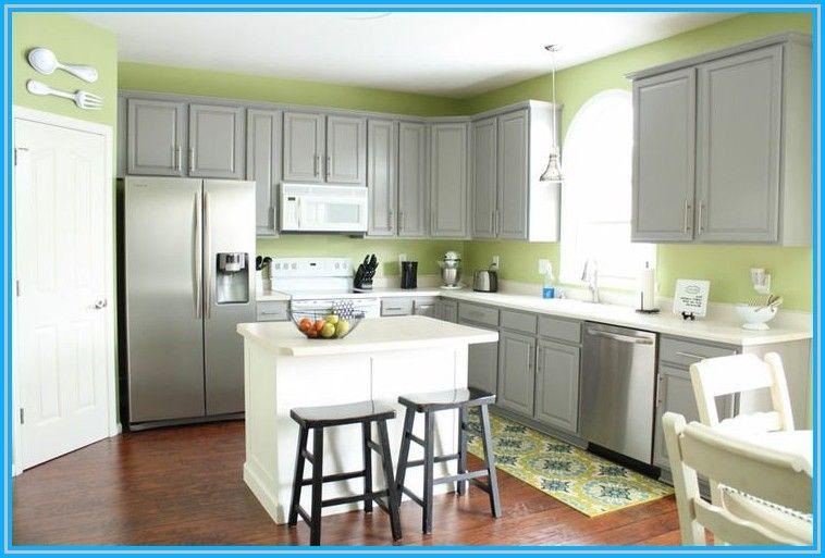 Grey Kitchen Cabinets With Green Walls Reno New Stuff