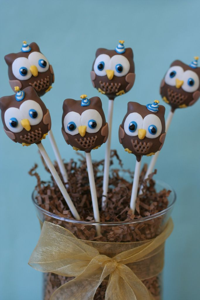party owls cake pops cake pop pinterest kuchen backen und kuchen und torten. Black Bedroom Furniture Sets. Home Design Ideas