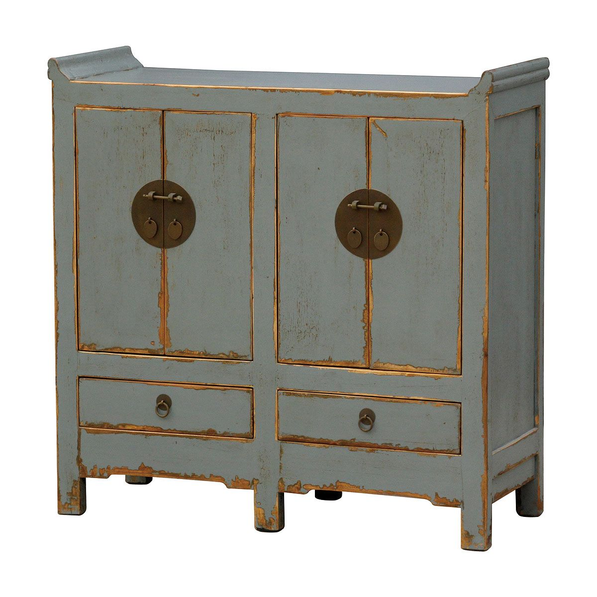 Four Hands: Small Cabinet 200 Door/20 Drawer-Light Blue | Interior ...