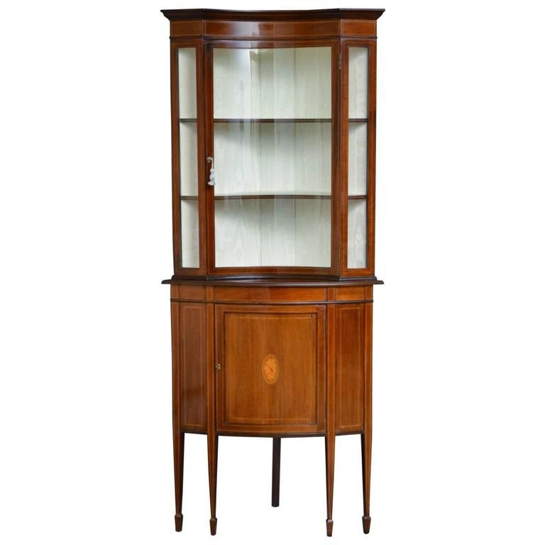 unusual edwardian corner display cabinet 1stdibs com design rh pinterest com
