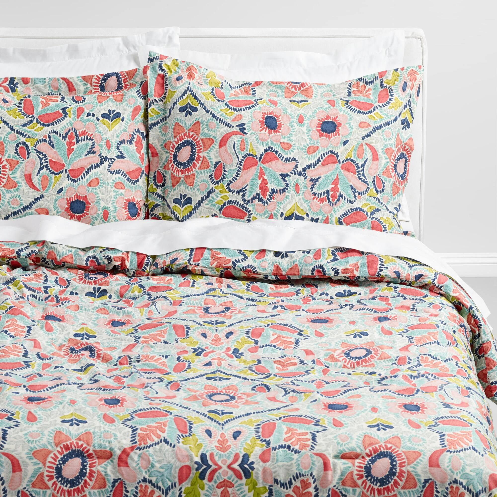 multicolored floral margherita comforter by world market products rh pinterest com