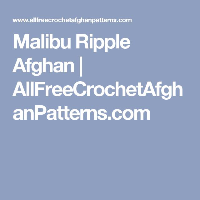 Malibu Ripple Afghan | AllFreeCrochetAfghanPatterns.com