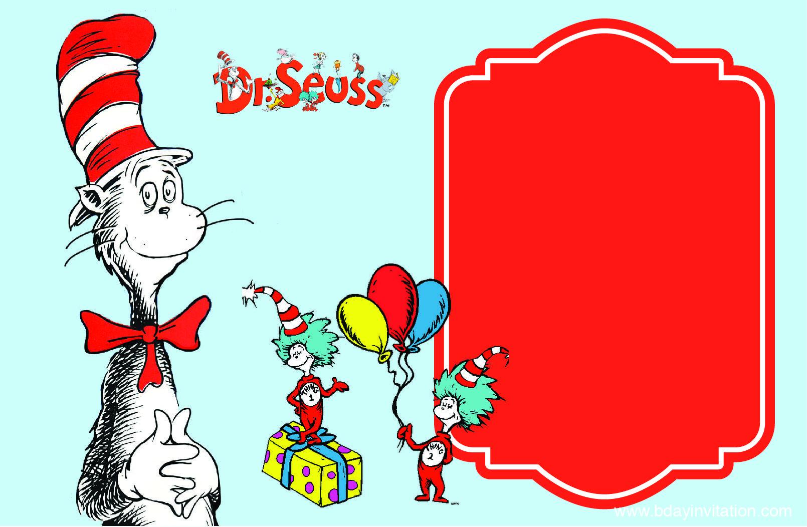 Dr Seuss Birthday Invitations Templates   Download Now Free Printable Dr Seuss Birthday Invitation Template