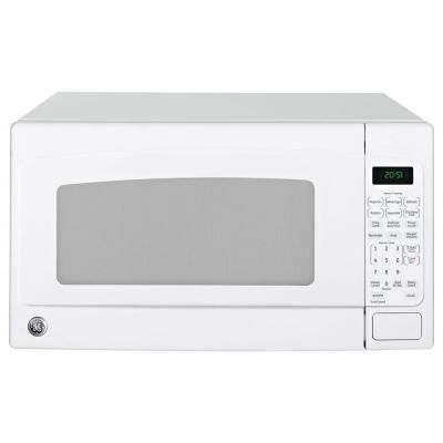 Ge 2 0 Cu Ft Countertop Microwave In White Jes2051dnww The