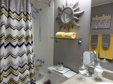 gray and yellow bathroom design ideas pictures remodel and decor rh pinterest com