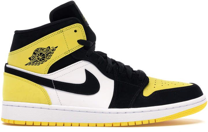 Jordan Air 1 Mid Yellow Toe Black Air Jordans Jordan 1 Mid