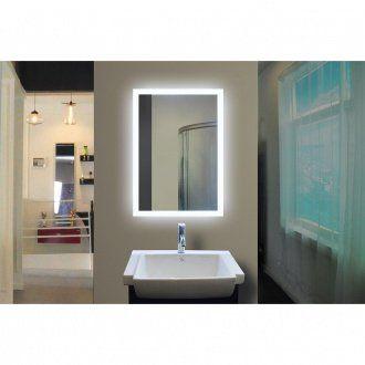 rectangle bathroom mirror with led backlight bathrooms remodel rh pinterest com